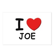 I love Joe Postcards (Package of 8)