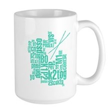 Knitting Abbreviation Cloud Mug