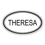 Theresa Oval Design Oval Decal