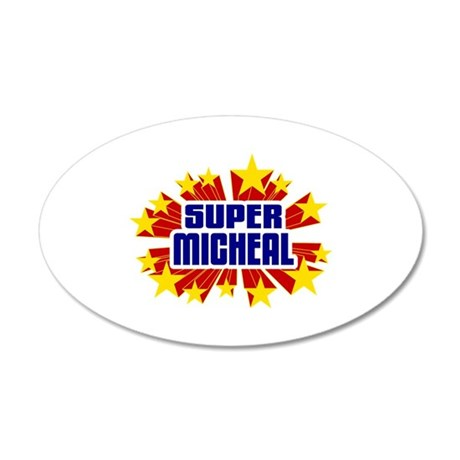 Micheal the Super Hero Wall Decal