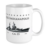 USS Indianapolis Battle Stars Mug