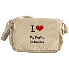 I Love My Public Defender Messenger Bag