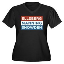Edward Snowden REAL AMERICAN HERO Plus Size T-Shir
