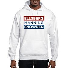 Edward Snowden REAL AMERICAN HERO Hoodie