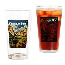 Vintage Yosemite Travel Drinking Glass
