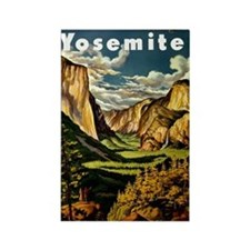 Vintage Yosemite Travel Rectangle Magnet