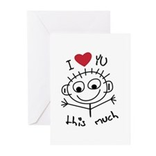 I Love you THIS much Greeting Cards (Pk of 10)