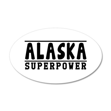 Alaska Superpower Designs 35x21 Oval Wall Decal