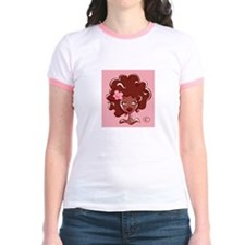 AFRO GIRL Ringer T-Shirt by FELYNE Clothing