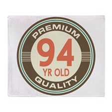 94th Birthday Vintage Throw Blanket