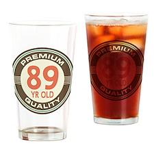 89th Birthday Vintage Drinking Glass