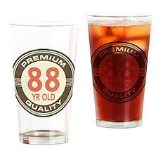 88th Birthday Vintage Drinking Glass