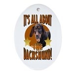 Dachshund Lover Oval Ornament