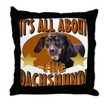 Dachshund Lover Throw Pillow