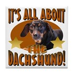 Dachshund Lover Tile Coaster