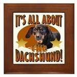 Dachshund Lover Framed Tile