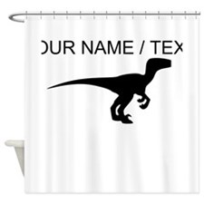 Custom Velociraptor Silhouette Shower Curtain