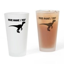 Custom Velociraptor Silhouette Drinking Glass