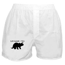 Custom Triceratops Silhouette Boxer Shorts