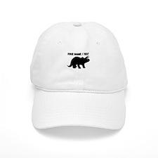Custom Triceratops Silhouette Baseball Baseball Cap