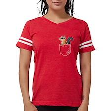 Crossed Six Shooter Pistols Jr. Football T-Shirt