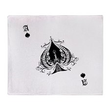 Ace Of Spades Throw Blanket