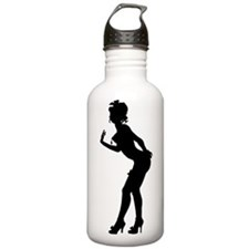 Burlesque Lady Silhouette Sports Water Bottle