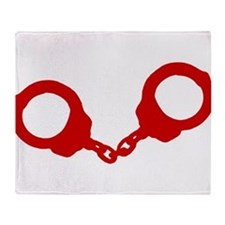 Red Handcuffs Throw Blanket