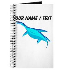 Custom Blue Plesiosaur Journal