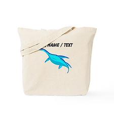 Custom Blue Plesiosaur Tote Bag
