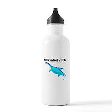 Custom Blue Plesiosaur Water Bottle