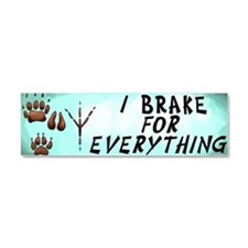 Cute Wolf lovers Car Magnet 10 x 3