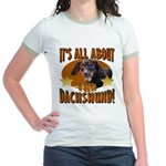 Dachshund Lover Jr. Ringer T-Shirt