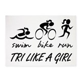 TRI LIKE A GIRL 5'x7'Area Rug