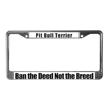 Pit Bull Terrier License Plate Frame