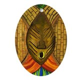 African Mask Ornament (Oval)