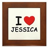 I love Jessica Framed Tile