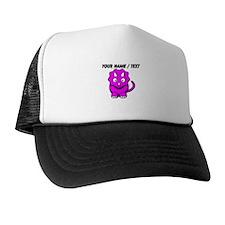 Custom Pink Cartoon Triceratops Trucker Hat