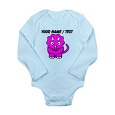 Custom Pink Cartoon Triceratops Body Suit