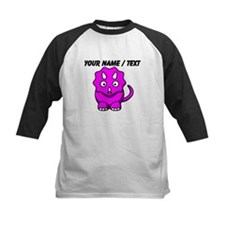Custom Pink Cartoon Triceratops Baseball Jersey