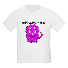 Custom Pink Cartoon Triceratops T-Shirt