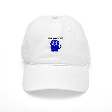 Custom Blue Cartoon Triceratops Baseball Baseball Cap