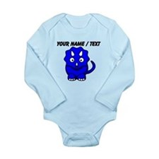 Custom Blue Cartoon Triceratops Body Suit