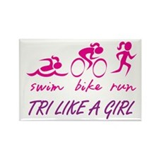 TRI LIKE A GIRL Rectangle Magnet (10 pack)