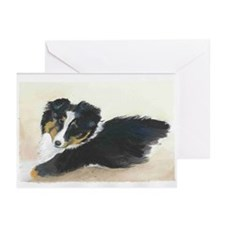 Sheltie Puppy Greeting Cards (Package of