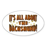 Dachshund Lover Oval Sticker