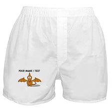 Custom Orange Pterodactyl Cartoon Boxer Shorts