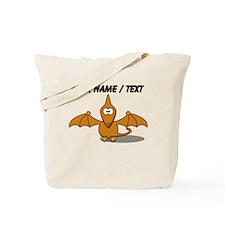 Custom Orange Pterodactyl Cartoon Tote Bag