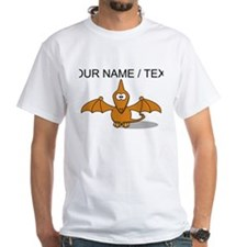 Custom Orange Pterodactyl Cartoon T-Shirt