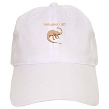 Custom Brown Brontosaurus Baseball Baseball Cap